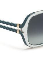 Cutout temple oversize sunglasses