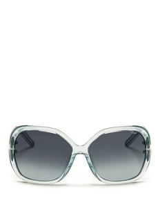 CHLOÉCut-out temple oversize sunglasses
