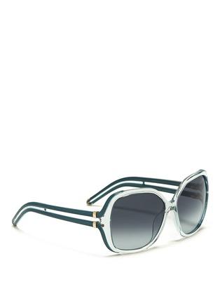 CHLOÉ-Cutout temple oversize sunglasses