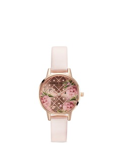 Olivia Burton  'Vegan Friendly Dot Design' midi floral print 30mm watch