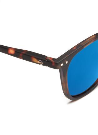 Detail View - Click To Enlarge - Izipizi - '#E' acetate square mirror sunglasses