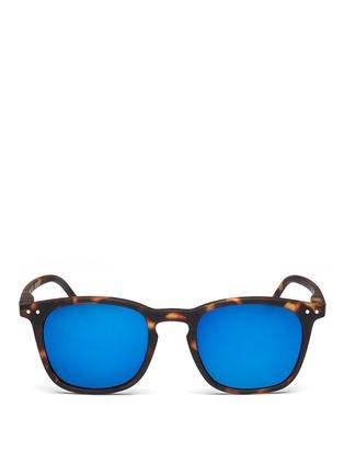 Main View - Click To Enlarge - Izipizi - '#E' acetate square mirror sunglasses