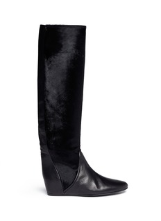 LANVIN Calf hair leather boots