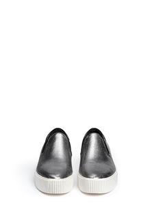 ASH'Karma' metallic leather slip-ons