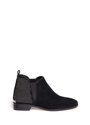 Main View - Click To Enlarge - Michael Kors - Krista' stud suede Chelsea boots