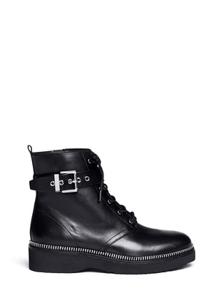 Main View - Click To Enlarge - Michael Kors - Vivia' zip trim leather boots