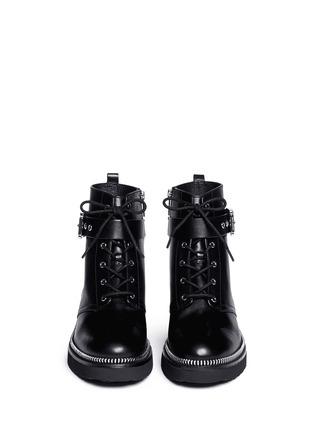 Figure View - Click To Enlarge - Michael Kors - Vivia' zip trim leather boots