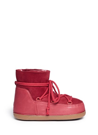 Main View - Click To Enlarge - INUIKII - 'Classic Low' lambskin shearling boots