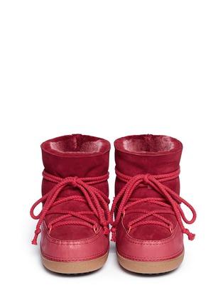 Figure View - Click To Enlarge - INUIKII - 'Classic Low' lambskin shearling boots
