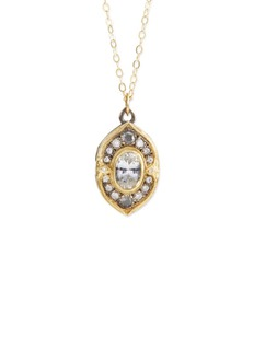 ILA&I 'Finola' diamond sapphire locket pendant necklace
