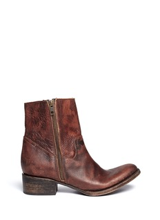FREEBIRD 'Austin' distressed leather zip boots