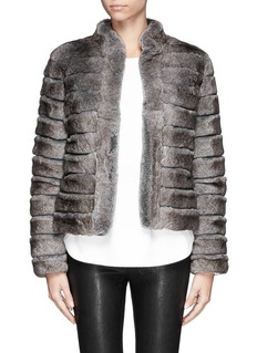 ARMANI COLLEZIONI Rabbit fur wool trim jacket