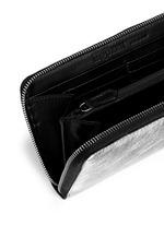 Skull charm continental zip wallet