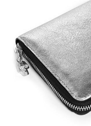 Detail View - Click To Enlarge - Alexander McQueen - Skull charm continental zip wallet
