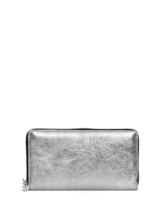 Main View - Click To Enlarge - Alexander McQueen - Skull charm continental zip wallet