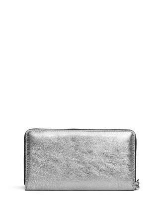 Figure View - Click To Enlarge - Alexander McQueen - Skull charm continental zip wallet