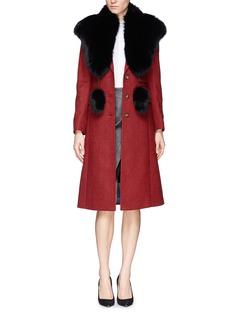 FLAMINGOFox fur pompom cape