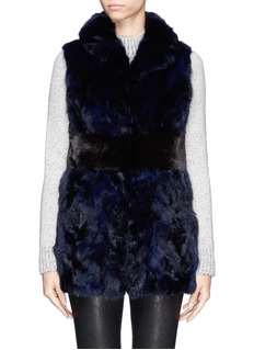 FLAMINGOSable fur colourblock gilet