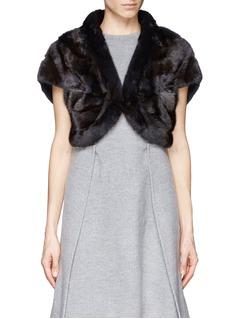 FLAMINGOMink fur cape