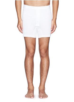首图 - 点击放大 - SUNSPEL - 纯棉钮扣平角内裤
