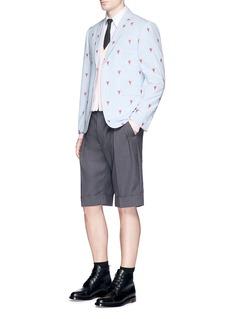 Thom BrowneLobster embroidered stripe seersucker blazer
