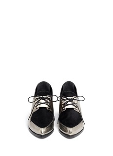 JASON WU Metallic leather Oxford slip-ons