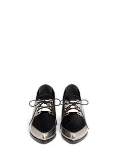 JASON WUMetallic leather Oxford slip-ons