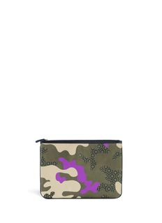MISCHA 'CDG' camouflage hexagon print pouch