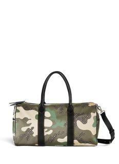 MISCHA'Voyager' camouflage hexagon print duffle bag