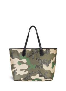 MISCHA'Jet Set' camouflage hexagon print tote
