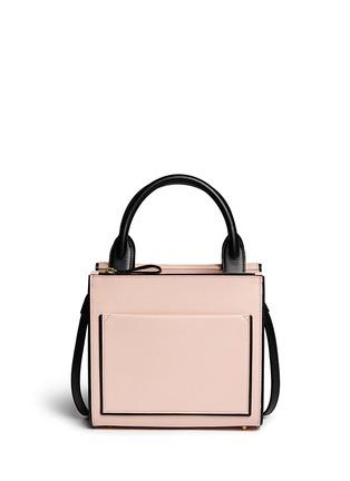 Back View - Click To Enlarge - Pierre Hardy - Colourblock piping leather bag