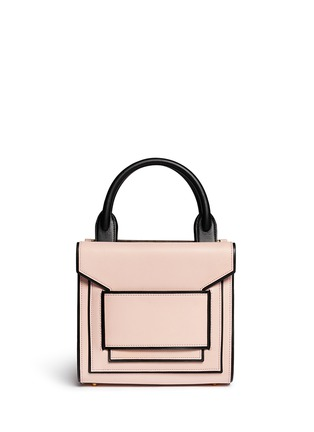 Main View - Click To Enlarge - Pierre Hardy - Colourblock piping leather bag