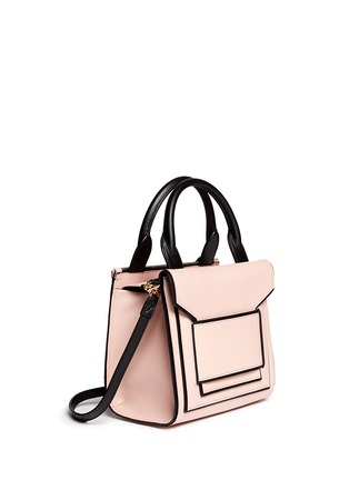 Figure View - Click To Enlarge - Pierre Hardy - Colourblock piping leather bag