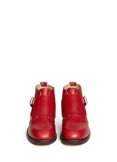 RAG & BONE'Nevin' monk strap leather ankle boots