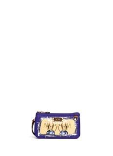 TUMIx Chictopia 'Vienna' elephant print triple compartment wristlet pouch