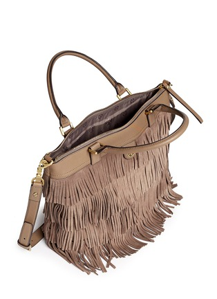 Detail View - Click To Enlarge - Tory Burch - Tassel suede tote