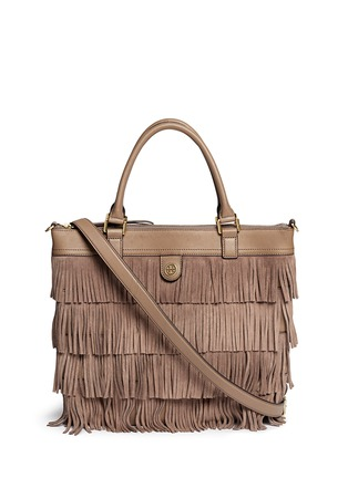 Main View - Click To Enlarge - Tory Burch - Tassel suede tote