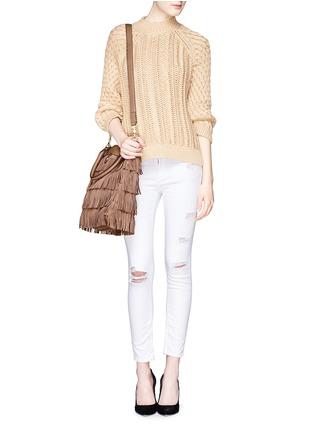 Figure View - Click To Enlarge - Tory Burch - Tassel suede tote