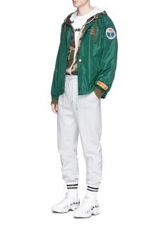 Heron Prestonx DSNY Logo print drawstring coach jacket