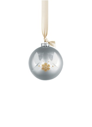 Main View - Click To Enlarge - KATE BARNETT - Dove glass bauble Christmas ornament