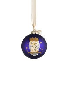 KATE BARNETTOwl glass bauble Christmas ornament