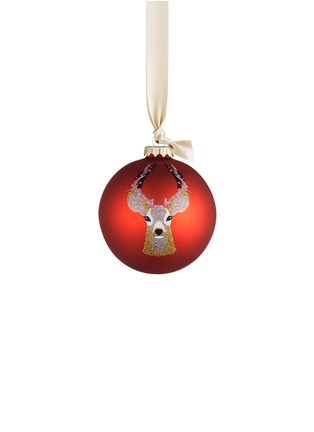 Main View - Click To Enlarge - KATE BARNETT - Reindeer glass bauble Christmas ornament
