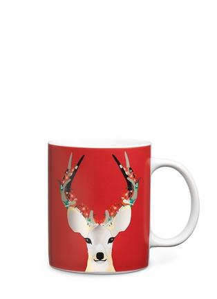 Main View - Click To Enlarge - KATE BARNETT - Reindeer print porcelain mug