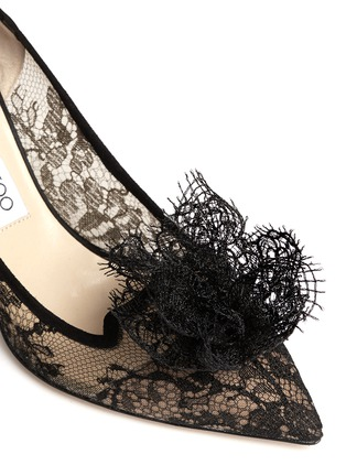 Detail View - Click To Enlarge - Jimmy Choo - Domino' floral lace pumps