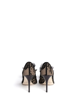 Back View - Click To Enlarge - Jimmy Choo - Domino' floral lace pumps