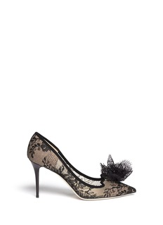 JIMMY CHOO 'Domino' floral lace pumps