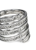 'Pavé Coil' diamond sterling silver ring