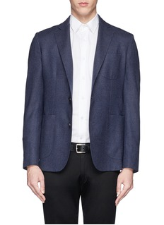 HARDY AMIES Pure new wool diamond weave felt blazer