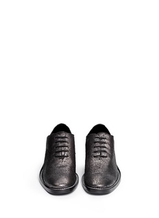 HAIDER ACKERMANN Metallic leather Oxfords