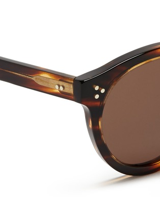 Detail View - Click To Enlarge - ILLESTEVA - 'Leonard II' tortoiseshell acetate sunglasses